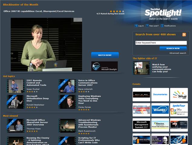Лучшие видео с лучших ИТ мероприятий: Technet Spotlight