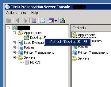 Citrix Presentation Server 4.5 Feature Pack 1 не создает ICA файлы