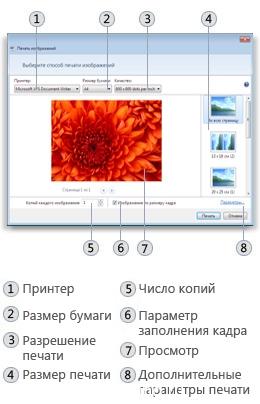 Сравнение печати изображений в Windows XP и Windows 7