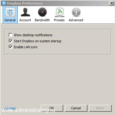 Скорость синхронизации на бесплатном аккаунте DropBox