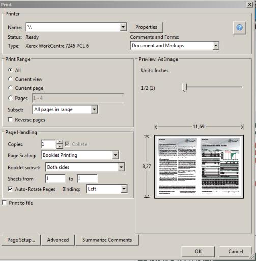 Буклетная печать в Adobe Acrobat Reader X 10.1.1 - Из жизни в IT - Блог системного администратора